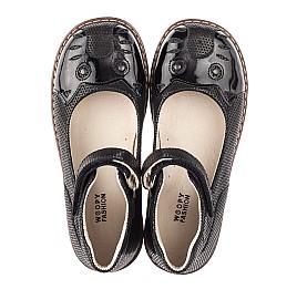 Детские туфли Woopy Orthopedic черные для девочек натуральный нубук размер 28-35 (4239) Фото 5
