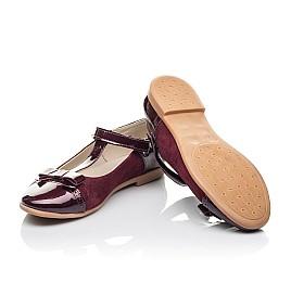 Детские туфли Woopy Orthopedic бордовые для девочек лаковая кожа, замша размер 31-38 (4240) Фото 2
