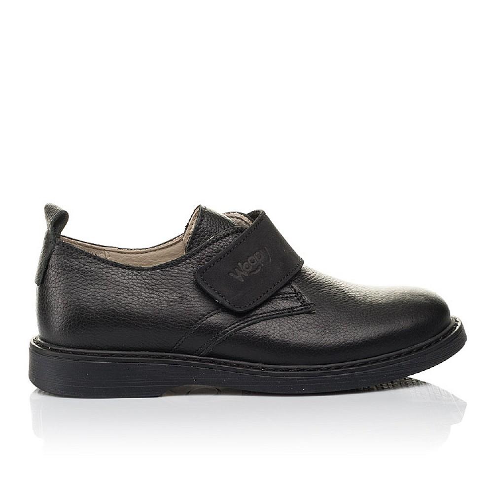 Детские туфли Woopy Orthopedic черные для мальчиков натуральная кожа размер 31-36 (4242) Фото 4