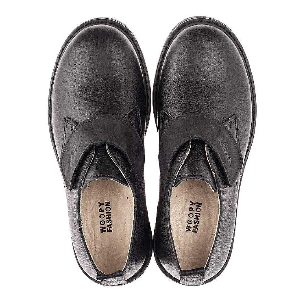 Детские туфли Woopy Orthopedic черные для мальчиков натуральная кожа размер 31-36 (4242) Фото 5