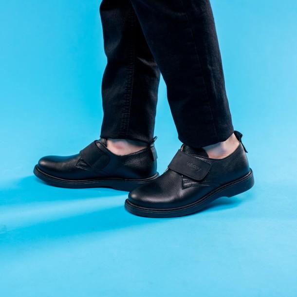 Мальчик обут в детские туфли Woopy Orthopedic черные (4242) Фото 2