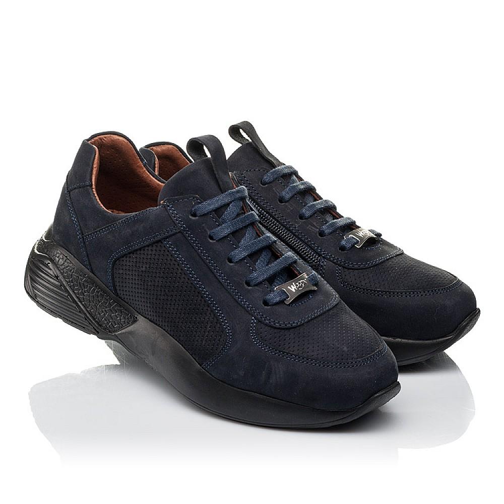 Детские кроссовки Woopy Orthopedic синие для мальчиков натуральный нубук размер 28-36 (4244) Фото 1