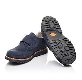 Детские туфли Woopy Orthopedic синие для мальчиков натуральный нубук размер 31-40 (4245) Фото 2