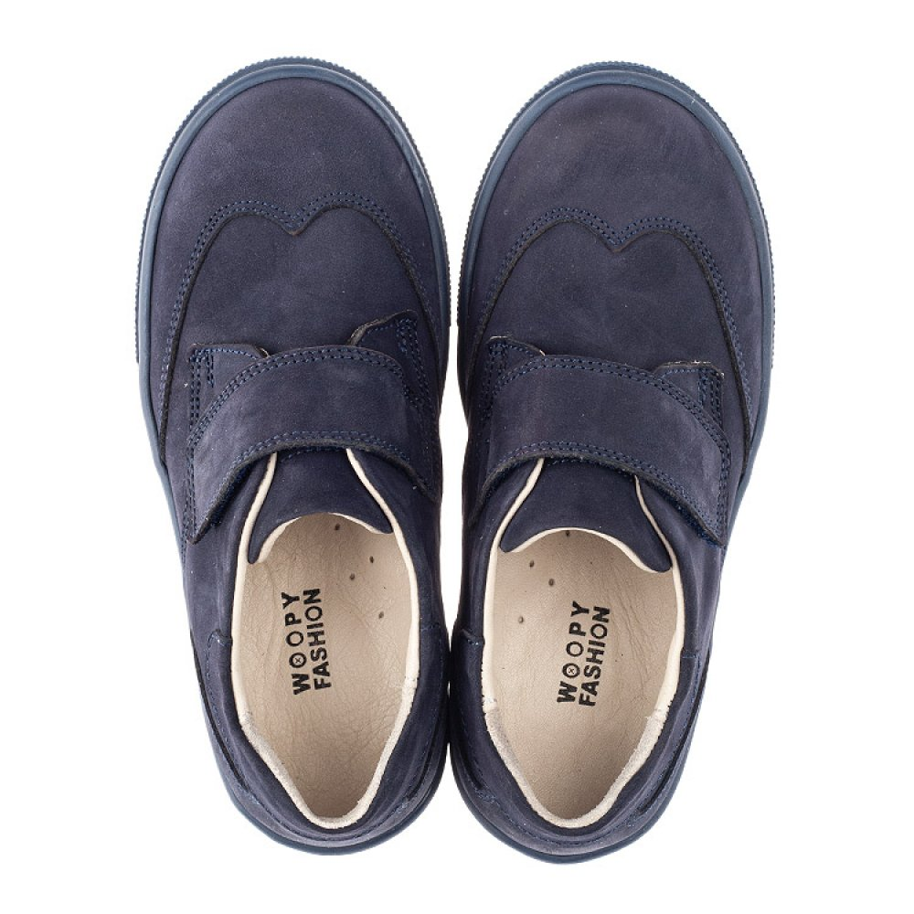 Детские туфли Woopy Orthopedic синие для мальчиков натуральный нубук размер 31-40 (4245) Фото 5
