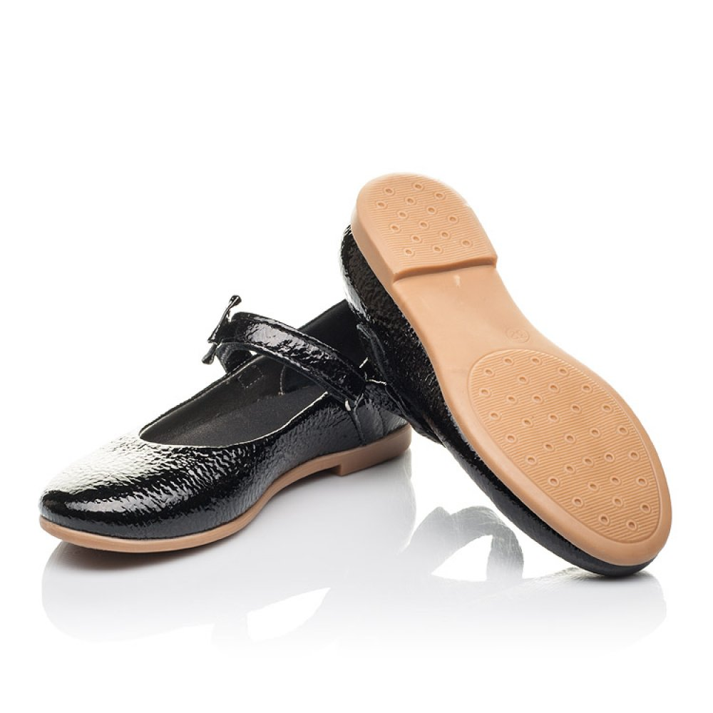 Детские туфли Woopy Orthopedic черные для девочек натуральная лаковая кожа размер 29-37 (4248) Фото 2