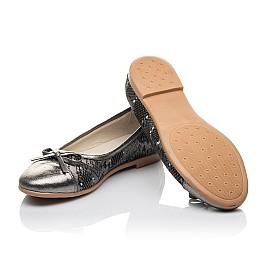 Детские туфли Woopy Orthopedic серые для девочек натуральная кожа размер 33-39 (4249) Фото 2