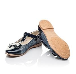 Детские туфли Woopy Orthopedic синие для девочек натуральная лаковая кожа и нубук размер 31-38 (4250) Фото 2
