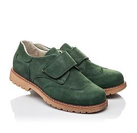 Детские туфли Woopy Orthopedic зеленые для мальчиков натуральный нубук размер 34-40 (4251) Фото 1
