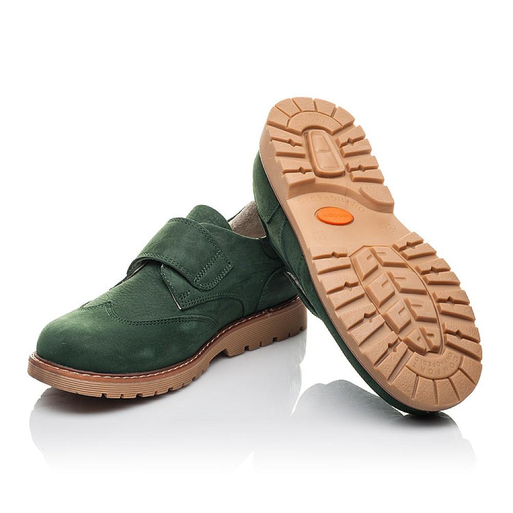 Детские туфли Woopy Orthopedic зеленые для мальчиков натуральный нубук размер 34-40 (4251) Фото 2