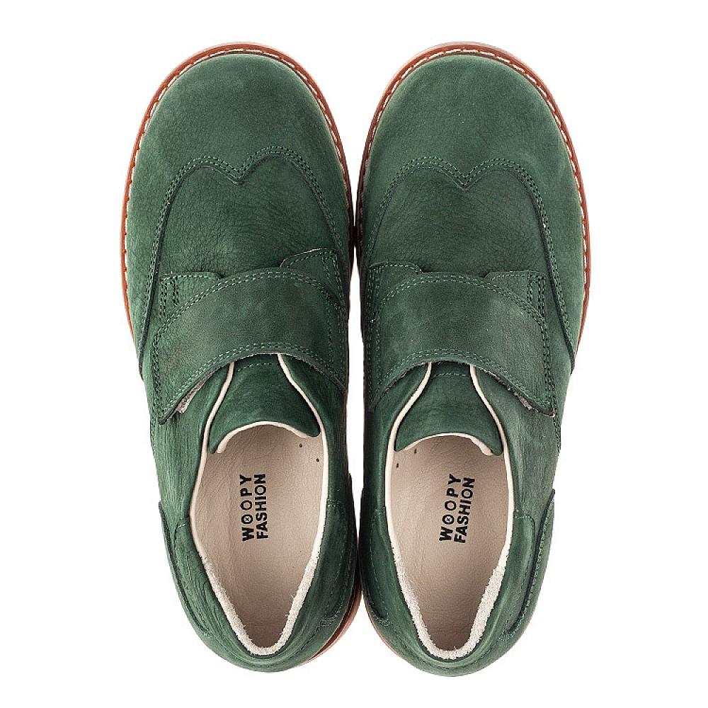 Детские туфли Woopy Orthopedic зеленые для мальчиков натуральный нубук размер 34-40 (4251) Фото 5