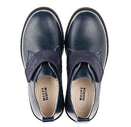 Детские туфли Woopy Orthopedic синие для мальчиков натуральная кожа размер 31-36 (4252) Фото 5