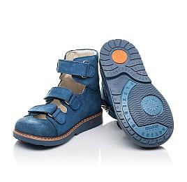 Детские ортопедические туфли Woopy Orthopedic голубые для мальчиков натуральный нубук размер 20-30 (4254) Фото 2