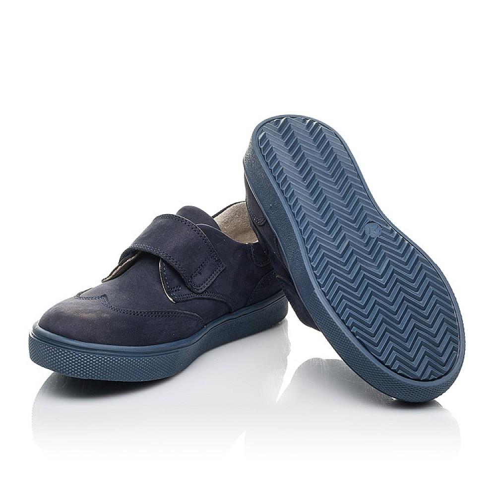 Детские кеды Woopy Orthopedic синие для мальчиков натуральный нубук размер 21-30 (4255) Фото 2