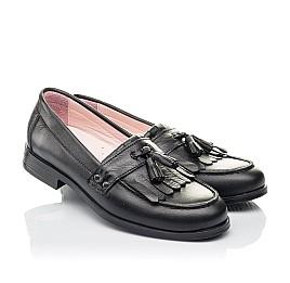 Детские туфли Woopy Orthopedic черные для девочек натуральная кожа размер 32-39 (4256) Фото 1