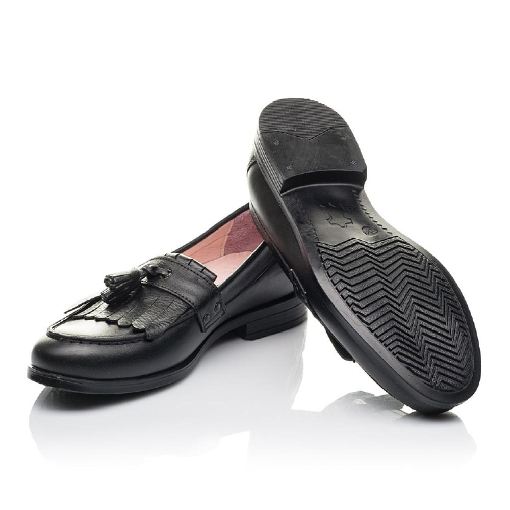 Детские туфли Woopy Orthopedic черные для девочек натуральная кожа размер 32-39 (4256) Фото 2