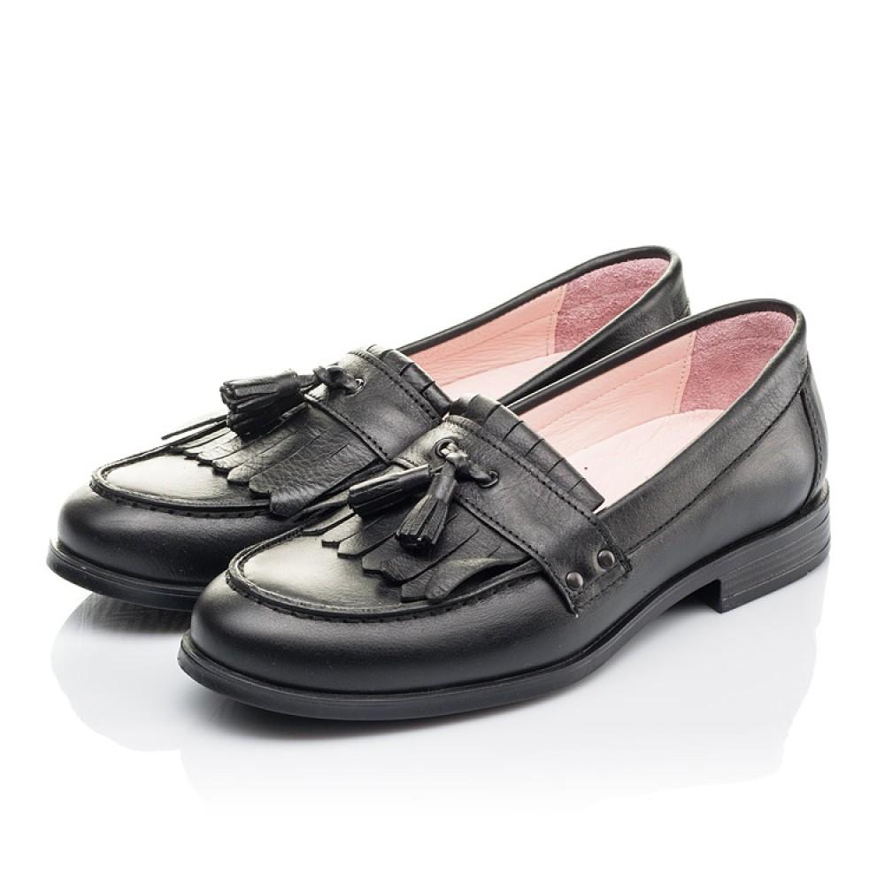 Детские туфли Woopy Orthopedic черные для девочек натуральная кожа размер 32-39 (4256) Фото 3