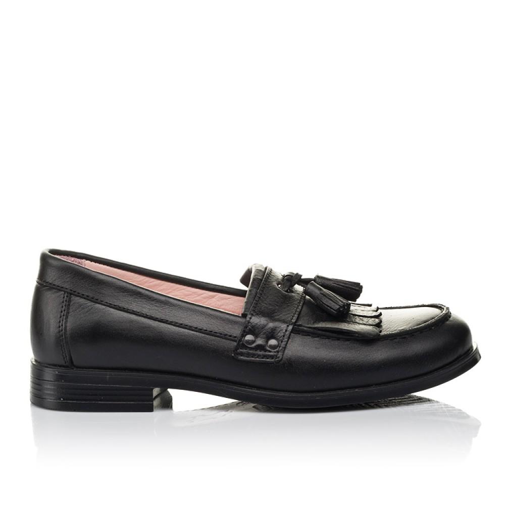 Детские туфли Woopy Orthopedic черные для девочек натуральная кожа размер 32-39 (4256) Фото 4