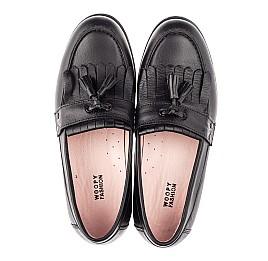 Детские туфли Woopy Orthopedic черные для девочек натуральная кожа размер 32-39 (4256) Фото 5