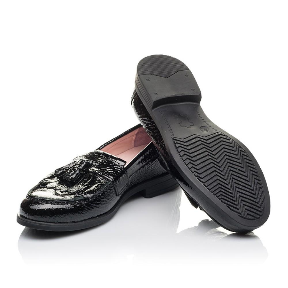 Детские туфли Woopy Orthopedic черные для девочек натуральная лаковая кожа размер 33-39 (4257) Фото 2