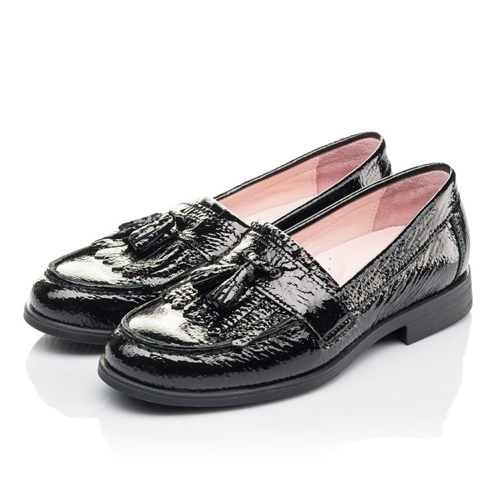 Детские туфли Woopy Orthopedic черные для девочек натуральная лаковая кожа размер 33-39 (4257) Фото 3