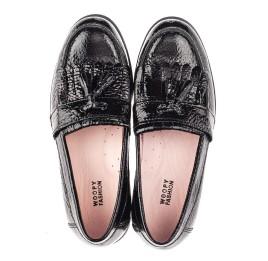 Детские туфли Woopy Orthopedic черные для девочек натуральная лаковая кожа размер 33-39 (4257) Фото 5