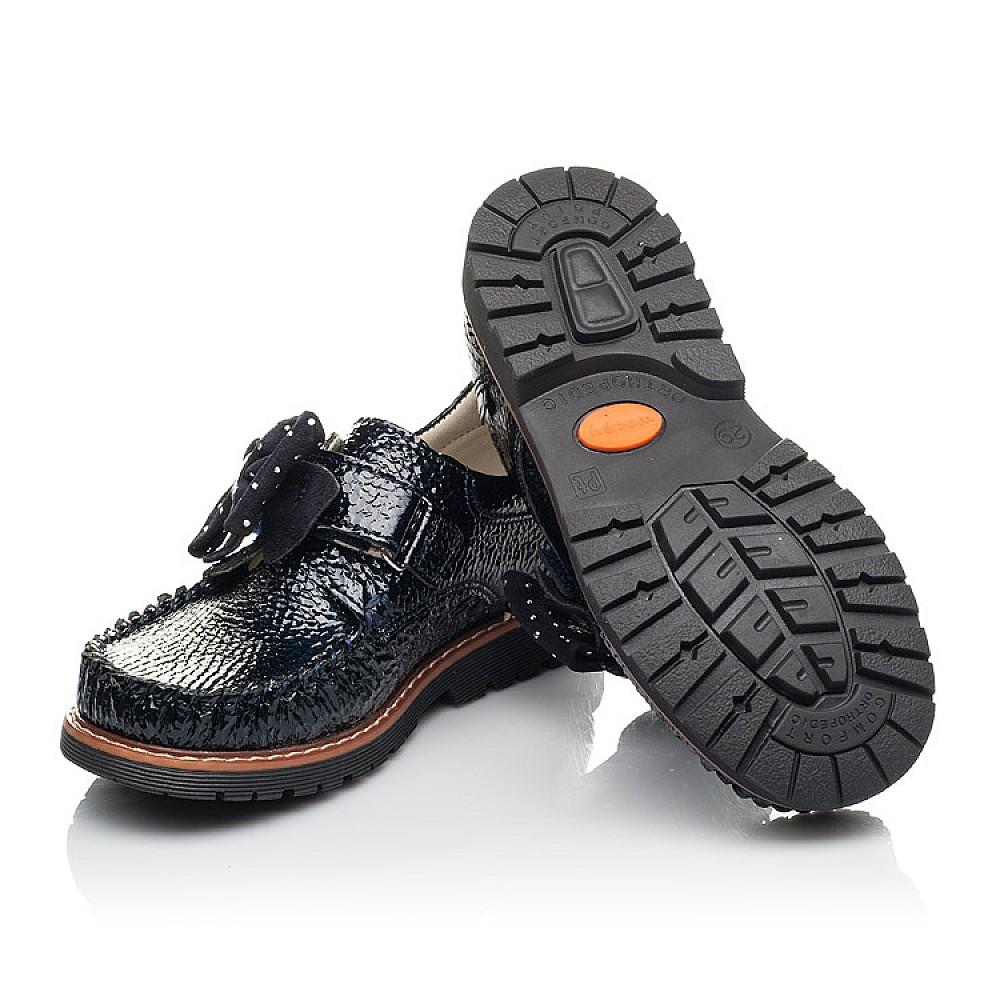 Детские туфли Woopy Orthopedic темно-синие для девочек натуральная лаковая кожа размер 29-36 (4259) Фото 2