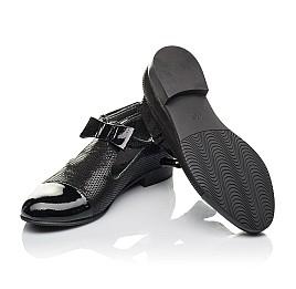 Детские туфлі Woopy Orthopedic черные для девочек натуральные нубук и лаковая кожа размер 32-39 (4261) Фото 2