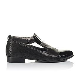 Детские туфлі Woopy Orthopedic черные для девочек натуральные нубук и лаковая кожа размер 32-39 (4261) Фото 4