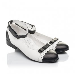 Детские туфли Woopy Orthopedic белые для девочек натуральная кожа размер 31-36 (4262) Фото 1