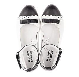 Детские туфли Woopy Orthopedic белые для девочек натуральная кожа размер 31-36 (4262) Фото 5