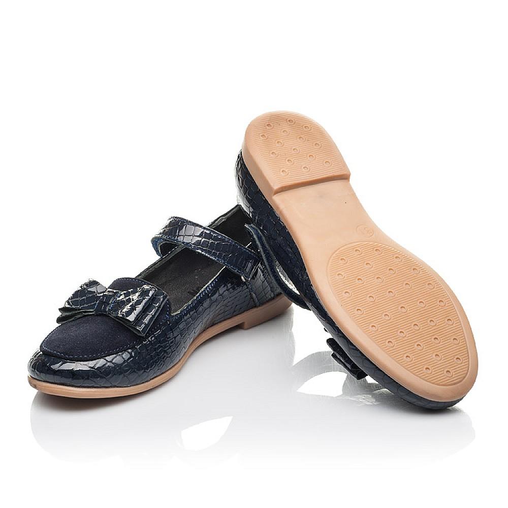 Детские туфли Woopy Orthopedic синие для девочек натуральная лаковая кожа размер 26-36 (4264) Фото 2