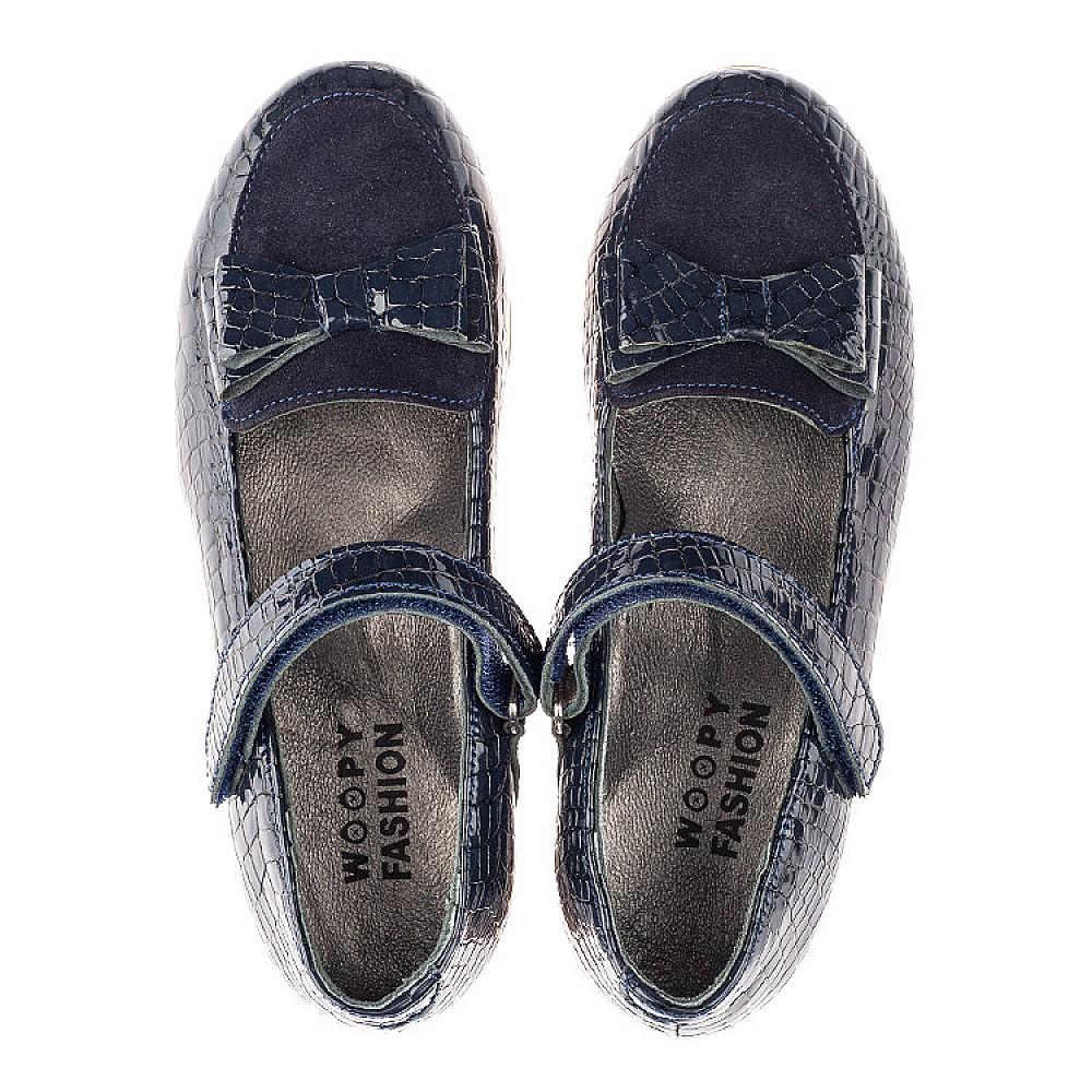 Детские туфли Woopy Orthopedic синие для девочек натуральная лаковая кожа размер 26-36 (4264) Фото 5