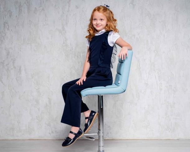 Девочка обута в детские туфли Woopy Orthopedic синие (4264) Фото 1