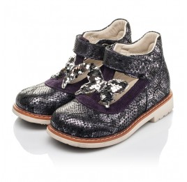 Детские туфли Woopy Orthopedic фиолетовые для девочек натуральный нубук размер 18-26 (4265) Фото 3