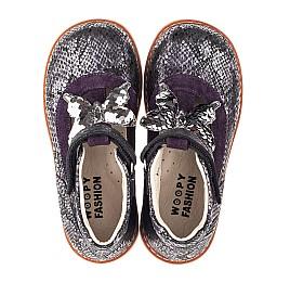 Детские туфли Woopy Orthopedic фиолетовые для девочек натуральный нубук размер 18-34 (4265) Фото 5