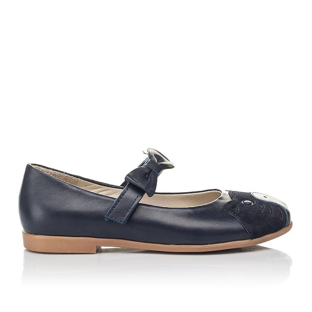Детские туфли Woopy Orthopedic синие для девочек натуральная кожа размер 29-36 (4266) Фото 4