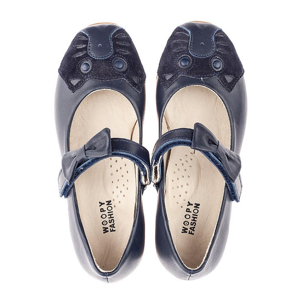 Детские туфли Woopy Orthopedic синие для девочек натуральная кожа размер 29-36 (4266) Фото 5