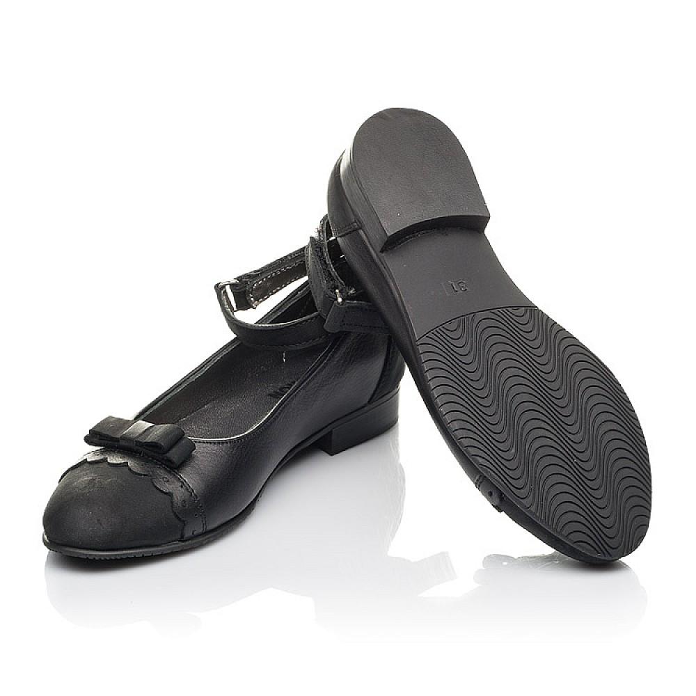 Детские туфли Woopy Orthopedic черные для девочек натуральная кожа и нубук размер 31-39 (4267) Фото 2