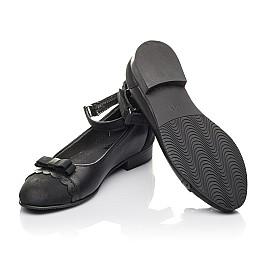 Детские туфлі Woopy Orthopedic черные для девочек натуральная кожа и нубук размер 31-36 (4267) Фото 2