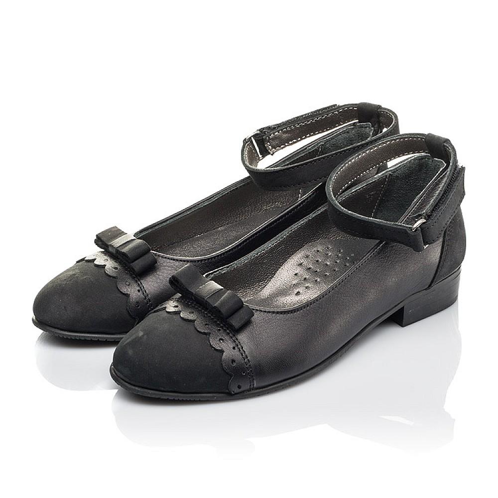 Детские туфли Woopy Orthopedic черные для девочек натуральная кожа и нубук размер 31-39 (4267) Фото 3