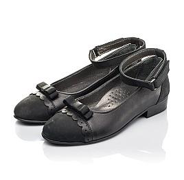 Детские туфлі Woopy Orthopedic черные для девочек натуральная кожа и нубук размер 31-36 (4267) Фото 3