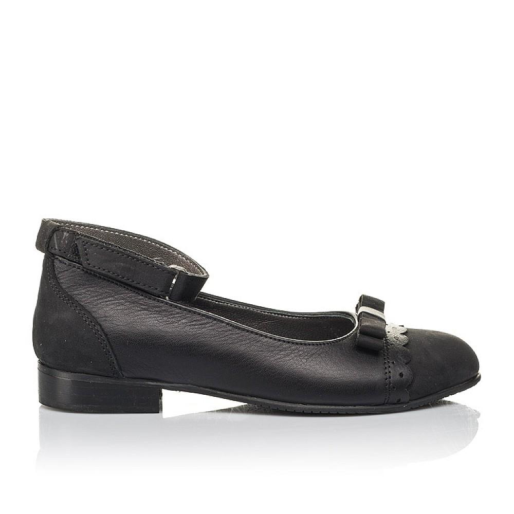 Детские туфли Woopy Orthopedic черные для девочек натуральная кожа и нубук размер 31-39 (4267) Фото 4