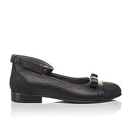 Детские туфлі Woopy Orthopedic черные для девочек натуральная кожа и нубук размер 31-36 (4267) Фото 4
