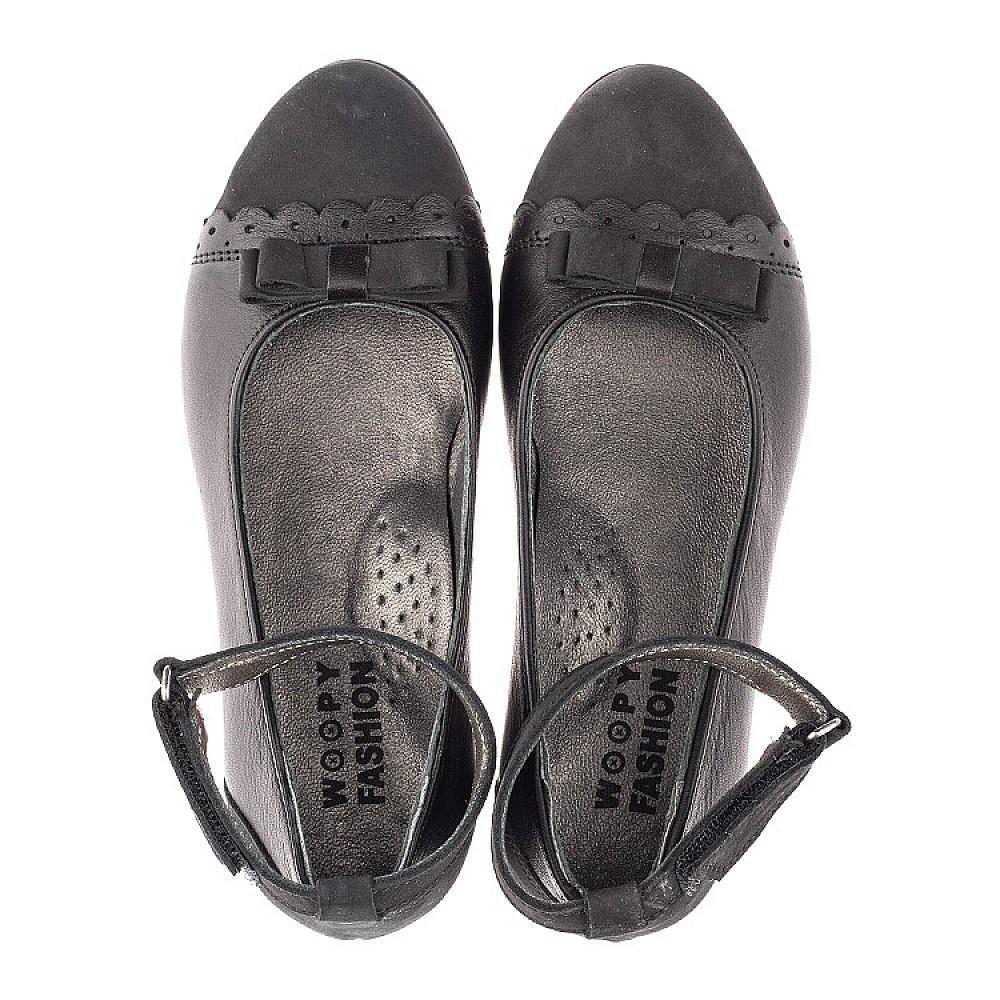 Детские туфли Woopy Orthopedic черные для девочек натуральная кожа и нубук размер 31-39 (4267) Фото 5