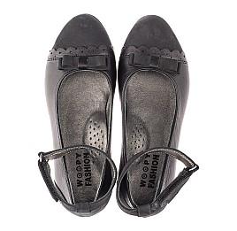 Детские туфлі Woopy Orthopedic черные для девочек натуральная кожа и нубук размер 31-36 (4267) Фото 5