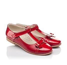 Детские туфли Woopy Orthopedic красные для девочек натуральная кожа размер 34-36 (4269) Фото 1