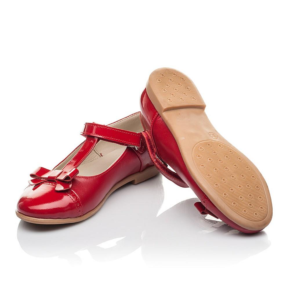 Детские туфли Woopy Orthopedic красные для девочек натуральная кожа размер 28-36 (4269) Фото 2