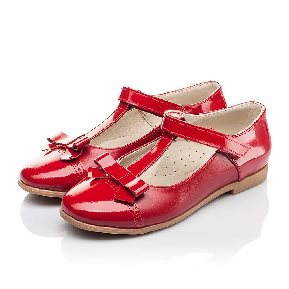 Детские туфли Woopy Orthopedic красные для девочек натуральная кожа размер 28-36 (4269) Фото 3