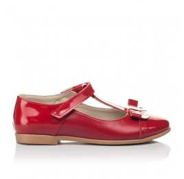 Детские туфли Woopy Orthopedic красные для девочек натуральная кожа размер 28-36 (4269) Фото 4