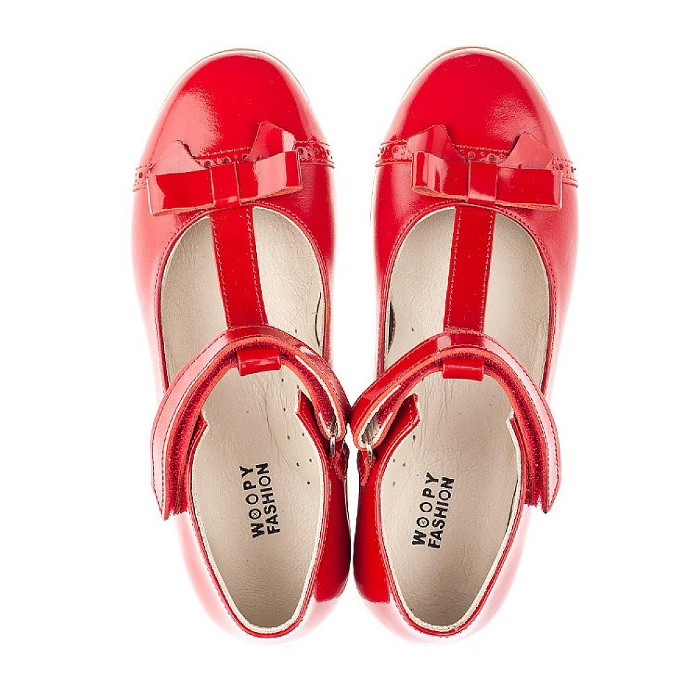 Детские туфли Woopy Orthopedic красные для девочек натуральная кожа размер 28-36 (4269) Фото 5